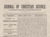 Die Erstausgabe des Journal of Christian Science, 14. April 1883
